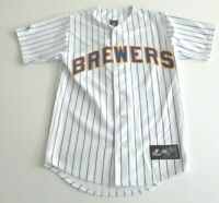 Mens S Small Milwaukee Brewers MLB Authentic Jersey Majestic JJ Hardy 7 poly