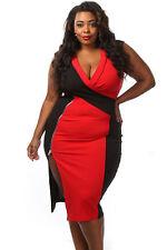 Abito Zip Ballo Spacco Taglie forti Grandi Curvy Formosa Plus Size Dress XL