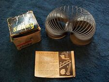 VINTAGE JAMES INDUSTRIES SLINKY  ORIGINAL BOX VINTAGE FAMOUS WALKING SPRING TOY