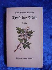 """""""Trost der Welt – Gedichte"""" von Joseph Freiherr von Eichendorff"""