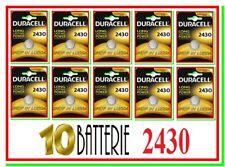 10 DURACELL 2430 Batterie Pile Litio CR 2430 ECR K2430L LF-1/2W L20 5011LC