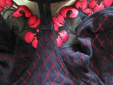 sexy,schicker entlastungs bh gr.90 C,schwarz,rosenstick,little rose by QVC, neu