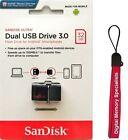 SanDisk 32GB OTG Ultra Dual microUSB 32G USB 3.0 Pen Drive SDDD2-032G +Lanyard