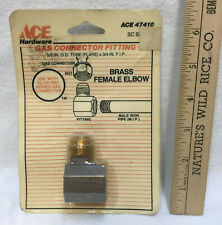 """Gas Connector Fitting Female Brass Elebow Ace Hardware 5/8"""" x 3/4"""" FIP SC or RSC"""