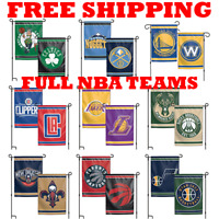 "FULL NBA 2018 Outdoor Garden Flag Double Sides 12x18"" - Pick Your Team"
