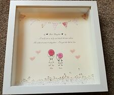 Handcrafted personalised button Daughter Picture Birthday Present Gift.