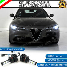 KIT FULL LED ALFA ROMEO GIULIA LAMPADE H7 6000K BIANCO 9800 LUMEN CANBUS LED