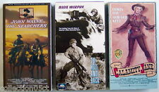 Lot Of 3 Vhs Videotapes, Calamity Jane + To Hell And Back + The Searchers