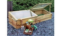 Zest Large Wooden Cold Frame Growhouse Greenhouse Garden Plant (growcoldframelg)