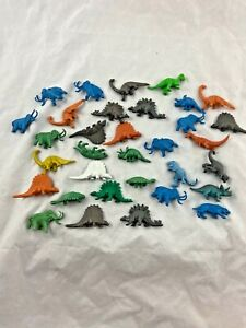Vintage - Lot of 33 - Small - Dinosaur - Figurines - Toys - Plastic - Hong Kong
