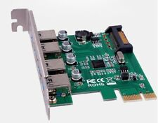 PCI-E to USB 3.0 4 Ports PCI Express Card Adapter Hub +15-pin SATA Power NEC