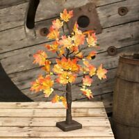 60cm 2ft Pre-Lit Light up LED Maple Leaf Blossom Christmas Tree Xmas Decoration