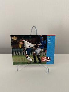 England Upper Deck 1998 Football Trading Card David Beckham Just Get There #42