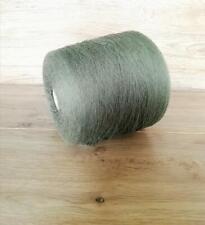 Baby Alpaca Wool Yarn on cone Green yarn Crochet Weaving Machine knitting 980g