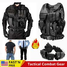 Military Vest Adjustable Tactical Molle Assault Swat Utility Gear Plate Carrier