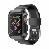 For iWatch Apple Watch Series 4 40mm 44mm Hard Wristband Strap Protection Case