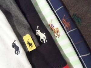 Lot 6 Ralph Lauren Mens Polo Shirt Size XL L/S Button Down Rugby T-Shirt w/ Pony