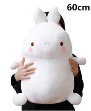 60cm Stuffed White Molang Rabbit Kids Plush soft Toys Doll Cushion X'mas Gift