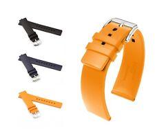 "HIRSCH Caoutchouc Watch Band, Model ""Pure"", 18-26 mm, 3 colors, (L), new!"