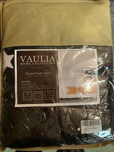 NIP 3 Pcs. Set Vaulia Home Duvet Cover King Sized 2-Pillow Shams New