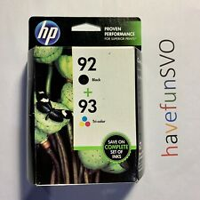 HP 92 Black + 93 Tri-Color Ink Cartridge Free Shipping! Warranty Exp. 02/2016
