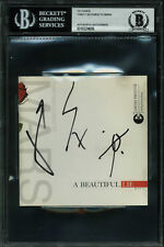 Thirty Seconds to Mars (3) Authentic Signed A Beautiful Lie Cd Cover BAS Slabbed