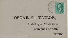 """1880's SELF-ADDRESSED COVER TO THE FAMOUS """"OSCAR THE TAILOR"""" OF MINNEAPOLIS"""