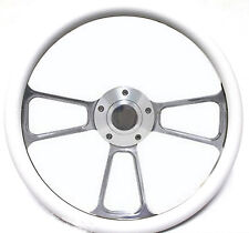 "Harley Davidson Golf Cart 14"" White Steering Wheel Includes Horn & Adapter"