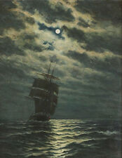 "perfact oil painting handpainted on canvas ""Ship in the moonlight  ""@N4797"