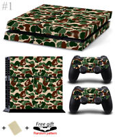 Camo PS4 Playstation 4 Skin Wrap Sticker Decals Cover Console + 2 Controller Set