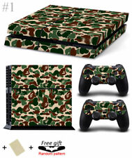 Fashion Camo Skin Sticker Cover For PS4 Playstation 4 Console + Controller Decal