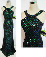 Cassandra Stone by MacDuggal 3737A Black / Peacock $458 Gown 2
