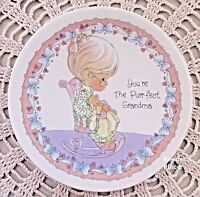 Precious Moments Enesco YOU'RE THE PURR-FECT GRANDMA Plate With Easel MINT