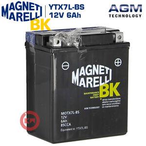 BATTERIA MAGNETI MARELLI YTX7L-BS 12V 6Ah PER HONDA SH 125 SH 150