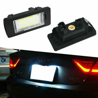 2pc Canbus Error Free LED License Plate Light For Audi A4 B8 & allroad 2008-2015