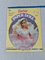 Vtg 1990 Uncut VTG BARBIE Paper Doll book 12 outfits on 4 pgs ~ Ships FREE
