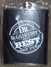 Dr McGillicuddy's Stainless Steel 8oz Hip Flask New in Plastic Alcohol Black