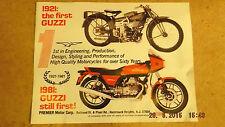 Moto Guzzi 1980s Vintage Flyer / Sales Brochure Joblot (x6)