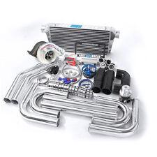 Universal GT35 T4 Turbo Kit + Turbonetics Hurricane 7868 Benita 650HP 4″ Inlet