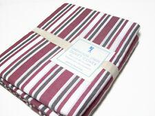 Pottery Barn Kids Twill Lake House Multi Color Stripe Full Queen Duvet Cover New