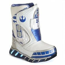 Star Wars R2d2 Light-up Kids Cold Weather Boots - White Size 8 *NEW IN BOX*