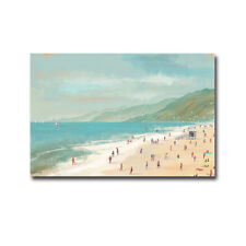 Santa Monica Beach by Pete Oswald Gallery-Wrapped Canvas Giclee Art