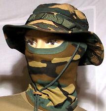 Chapeau de brousse + Cagoule Armée Camouflage Airsoft Chasse Pêche T61