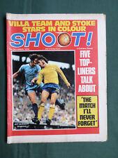 SHOOT- FOOTBALL MAGAZINE- 5 DEC 1970 - ASTON VILLA- HECTOR CHUMPITAZ- STOKE CITY