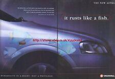 "Vauxhall New Astra ""It Rusts Like A Fish"" 1998 Magazine Advert #3491"