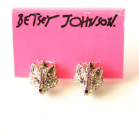 New Betsey Johnson Fox Head Stud Earrings Best Gift Fashion Women Party Jewelry