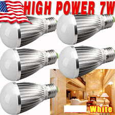 5 x Super Bright High Power 7W 12V E27 Home LED Bulb RV Lights Warm White E26 OU