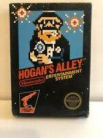 Hogans Alley Nintendo NES Game & Box Original Hogans Alley 3 screw  Tested