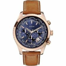 GUESS 0500G1 BLUE SUNRAY CHRONOGRAPH MENS WATCH GIFT 2YR WARRANTY