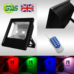 Slimline LED Floodlights Multi Colour Red Green Blue Amber 10W 20W 30W 50W 100W